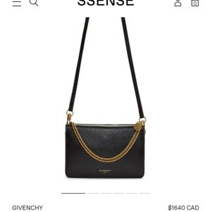 GIVENCHY cross3 leather chain bag